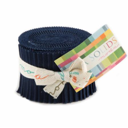 Solids Junior Jelly Roll - Navy 9900 20