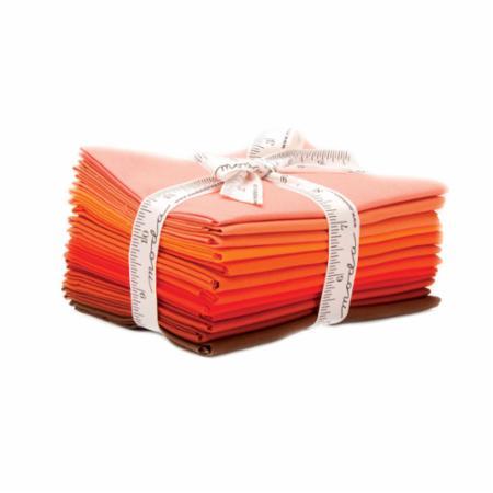 Moda Fat Quarter Bundle - Bella Solids Orange