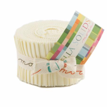 Solids Junior Jelly Roll - Snow 9900 11