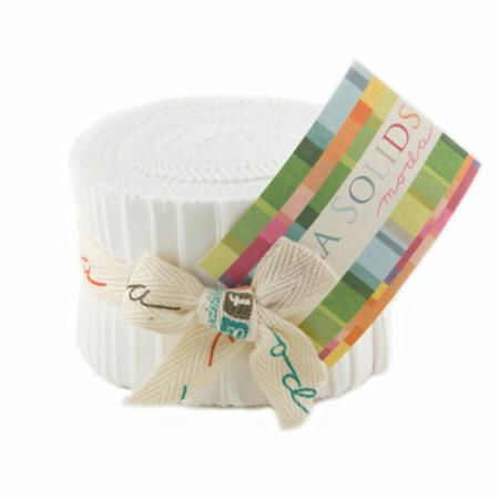 Solids Junior Jelly Roll - Off White 9900 200