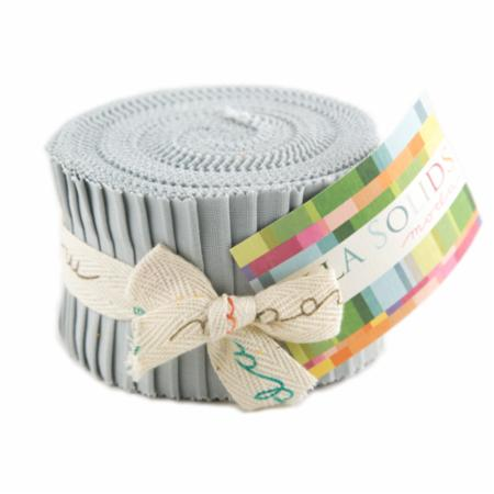 Solids Junior Jelly Roll - Zen Grey 9900 185