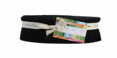 Moda Honey Bun - Bella Solids Black