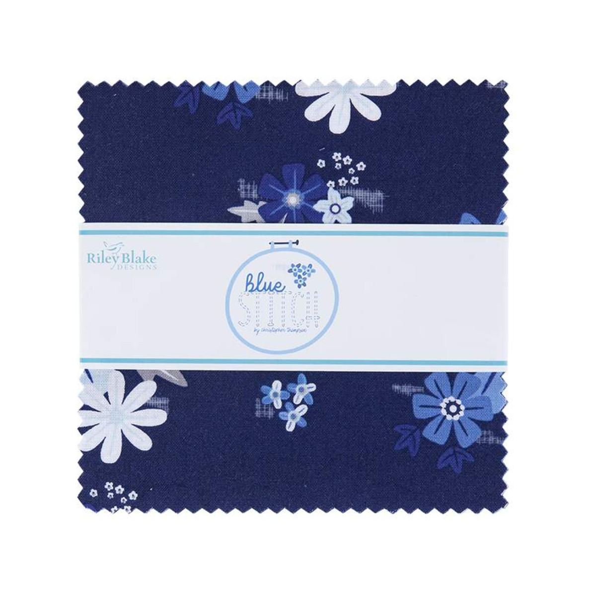 Riley Blake Charm Pack - Blue Stitch by Christopher Thompson