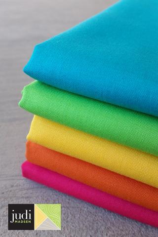Brights Bella Solids Fabric ONE YARD Bundle