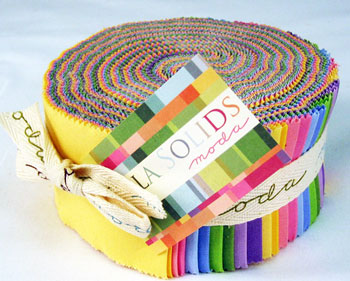 Moda Bella Solids Jelly Roll - Colors 9900-23