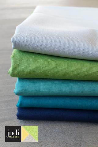 Deep Sea Bella Solids Fabric Bundle
