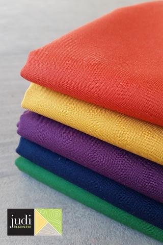 Jewel Bella Solids Fabric ONE YARD Bundle