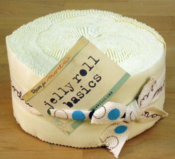 Moda Bella Solids Jelly Roll - Snow (9900-11)