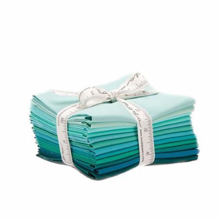 Moda Fat Quarter Bundle - Bella Solids Teal