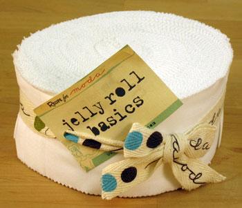 Moda Bella Solids Jelly Roll - White (9900-98)