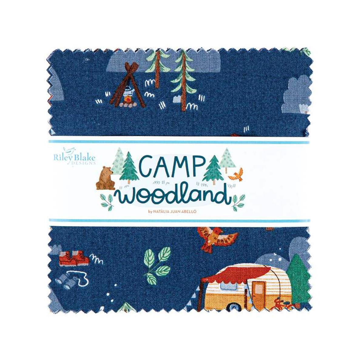 Riley Blake Charm Pack - Camp Woodland by Natàlia Juan Abelló