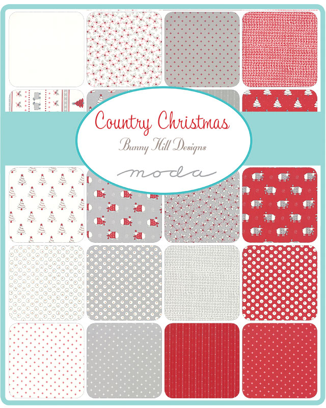 Moda Honey Bun - Country Christmas by Bunny Hill Designs