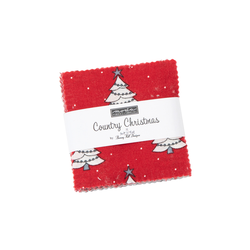 Moda Mini Charm - Country Christmas by Bunny Hill Designs