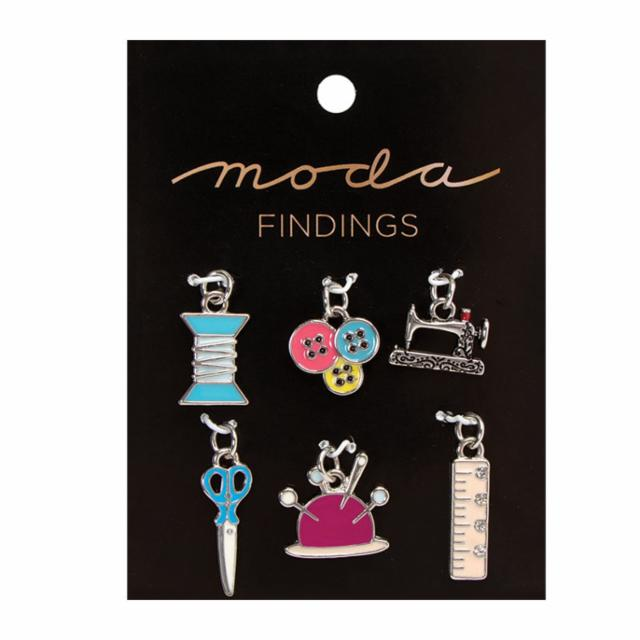 Charm Pack Enamel Moda Findings