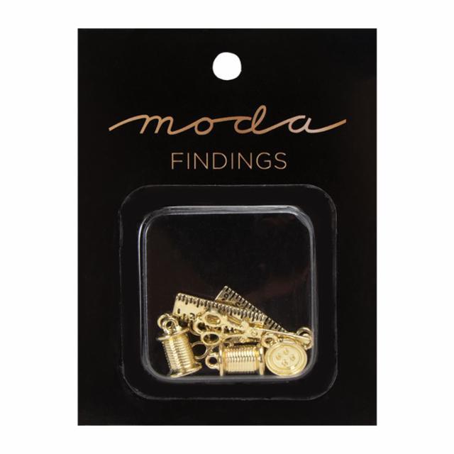 Charm Pack Gold Moda Findings