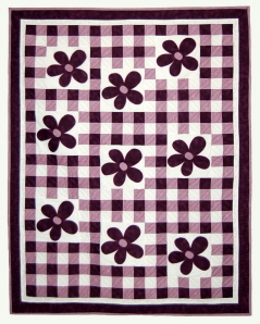 Checkered Flowers Quilt Pattern