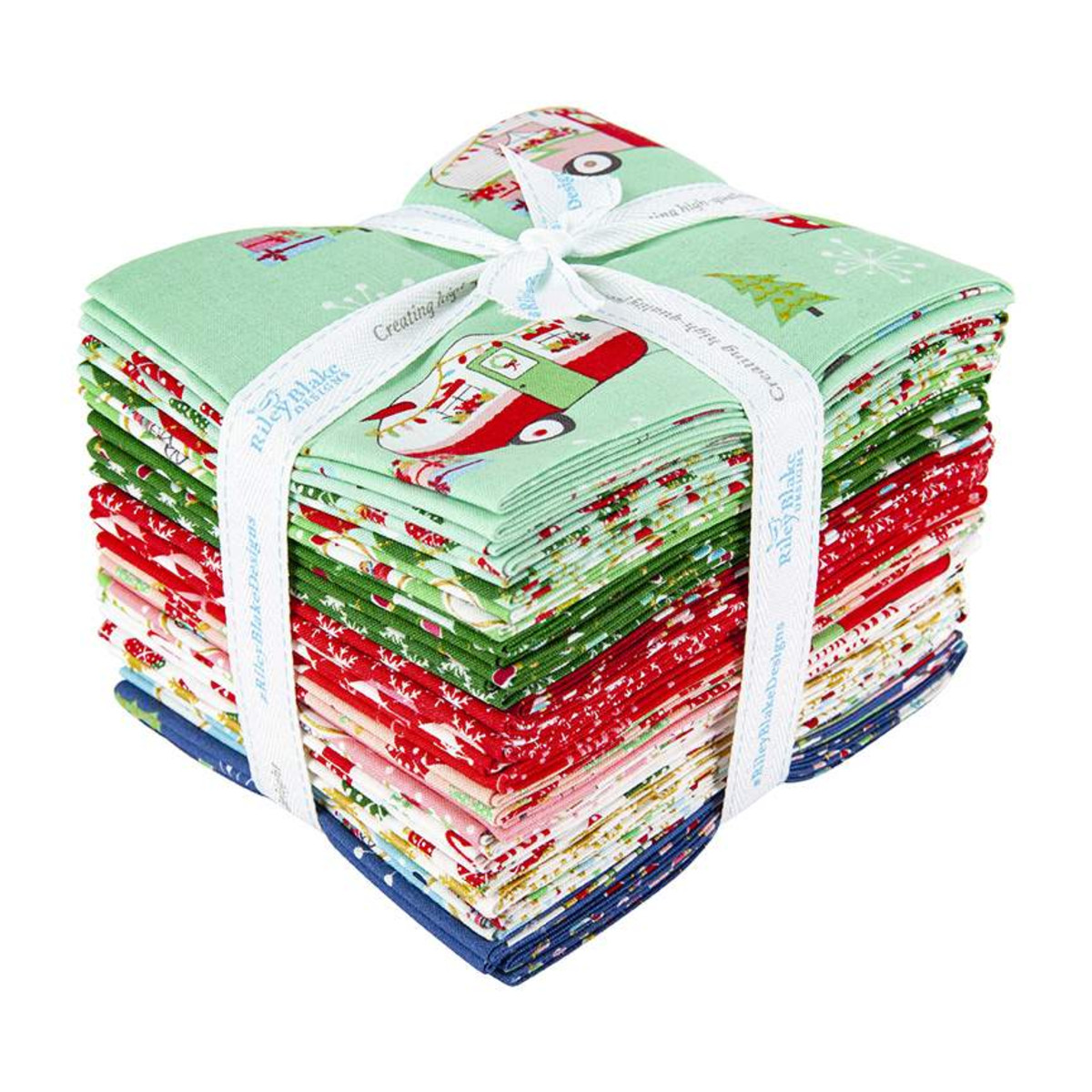 Riley Blake Fat Quarter Bundle - Christmas Adventure by Beverly McCullough
