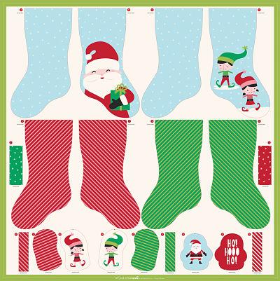 Christmas Stocking Ornaments Panel