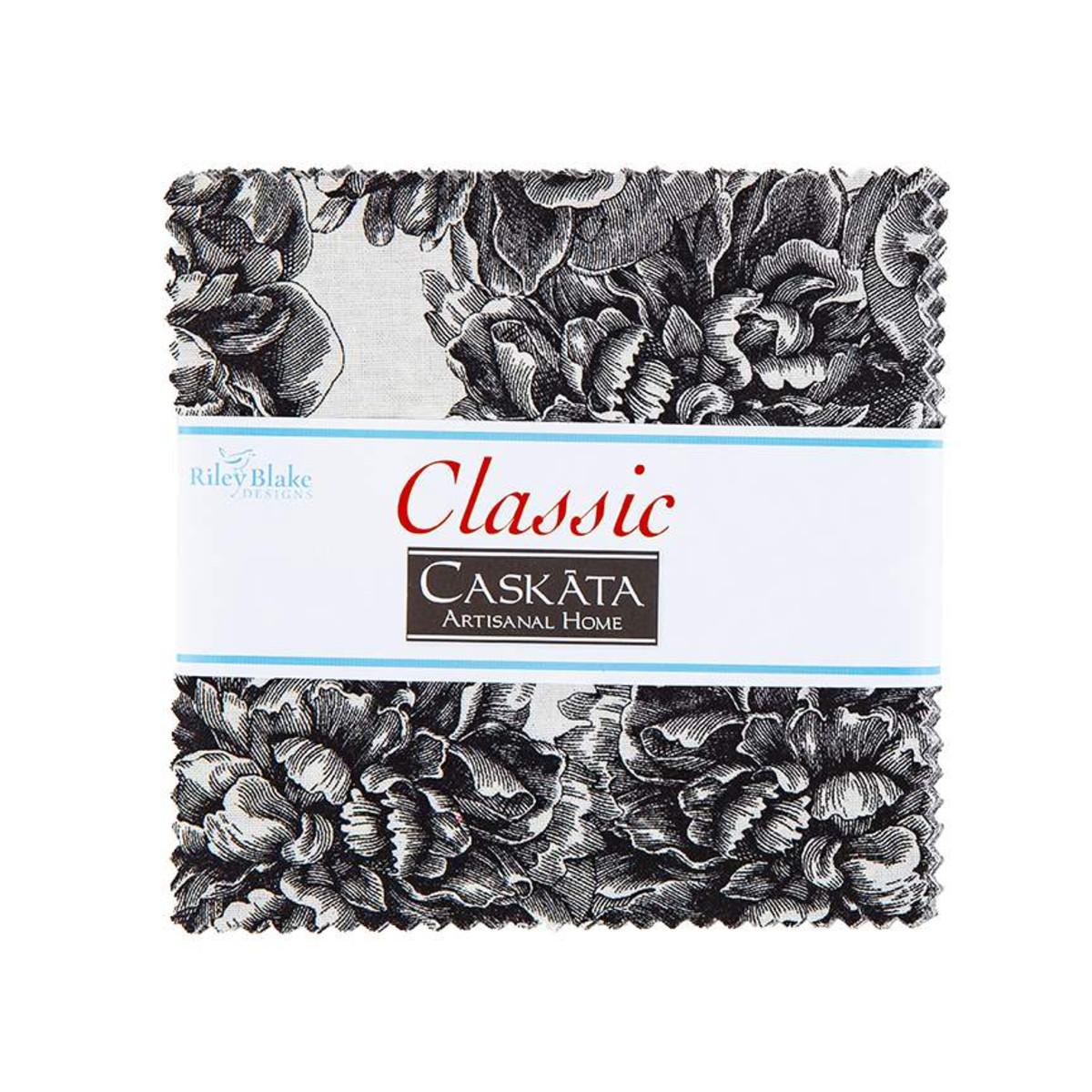 Riley Blake Charm Pack - Classic Caskata Black