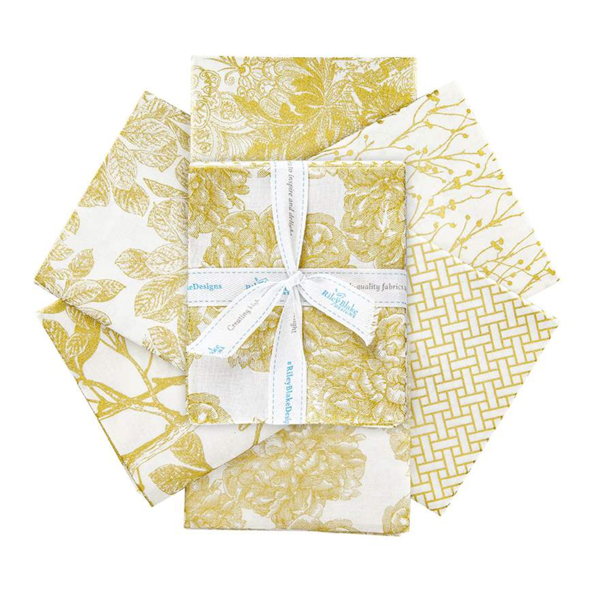Riley Blake Fat Quarter Bundle - Classic Caskata Gold