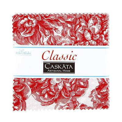 Riley Blake Charm Pack - Classic Caskata Red