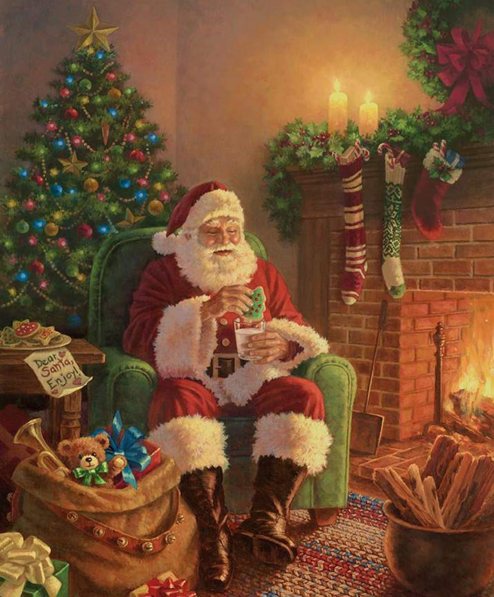 Riley Blake Panel - A Classic Christmas Milk & Cookies