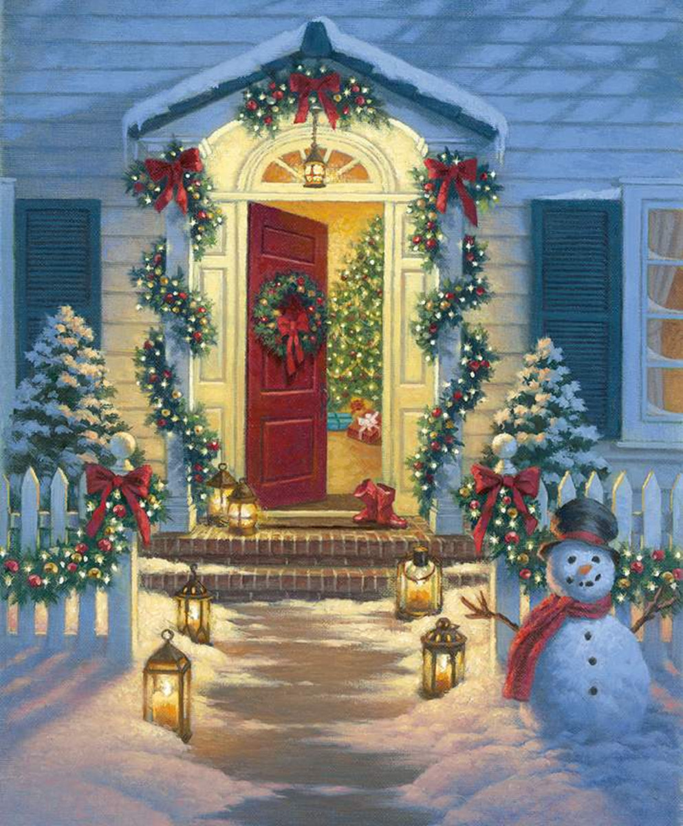 Riley Blake Panel - A Classic Christmas Christmas Porch