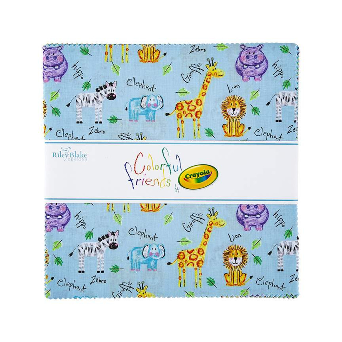Riley Blake Layer Cake - Colorful Friends
