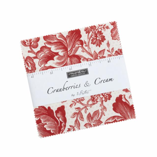 Moda Charm Pack - Cranberries & Cream by 3 Sisters