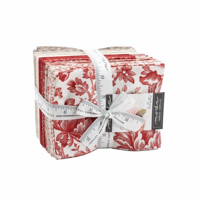 Moda Fat Quarter Bundle - Cranberries & Cream by 3 Sisters