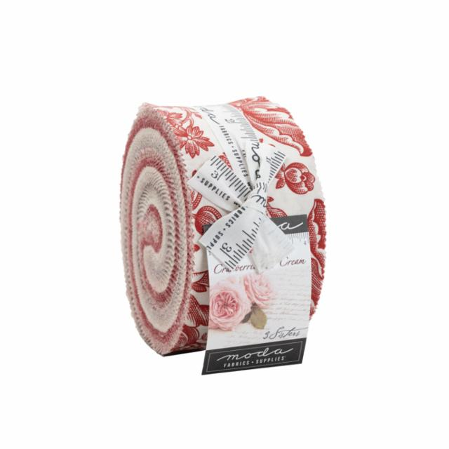 Moda Jelly Roll - Cranberries & Cream by 3 Sisters