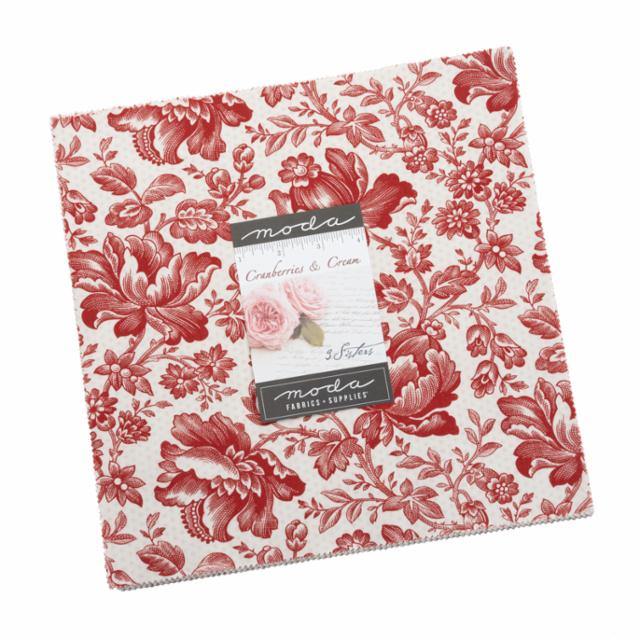 Moda Layer Cake - Cranberries & Cream by 3 Sisters