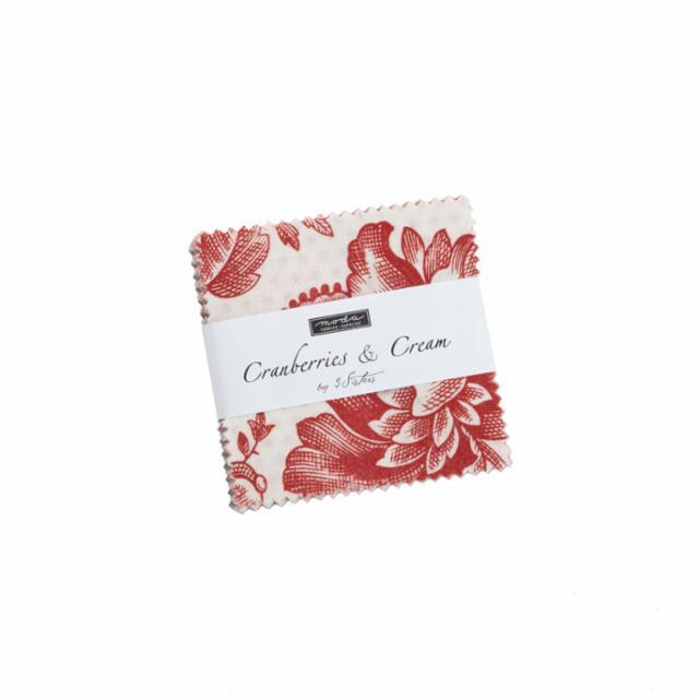 Moda Mini Charm - Cranberries & Cream by 3 Sisters