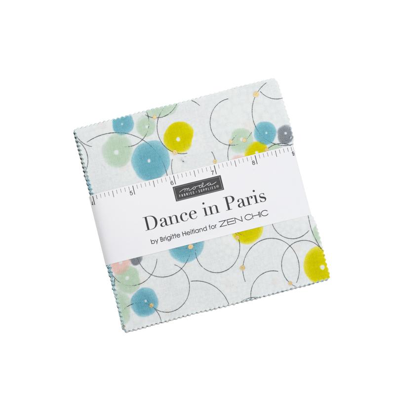 Moda Charm Pack - Dance In Paris by Zen Chic