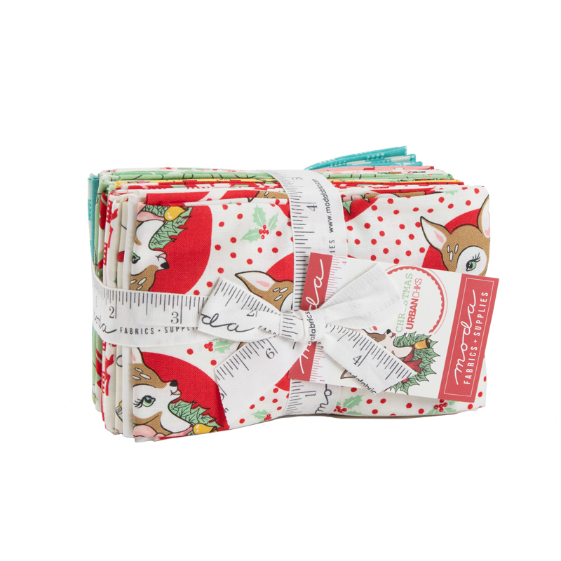 Moda Fat Eighth Bundle - Deer Christmas by Urban Chiks