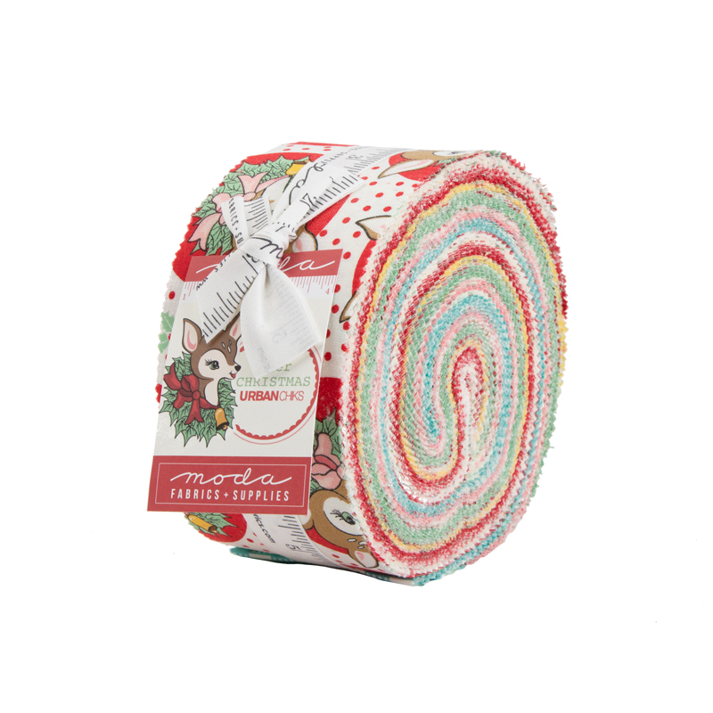 Moda Jelly Roll - Deer Christmas by Urban Chiks