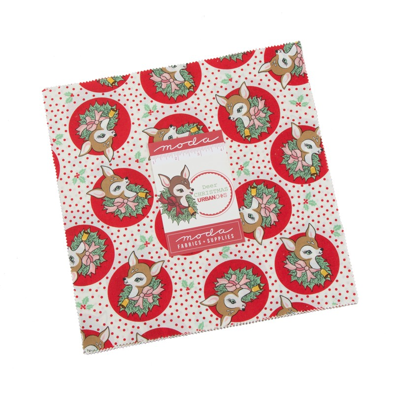 Moda Layer Cake - Deer Christmas by Urban Chiks