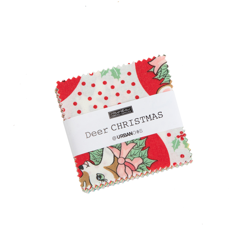 Moda Mini Charm - Deer Christmas by Urban Chiks