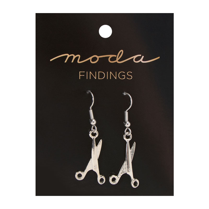 Silver Scissor Earrings