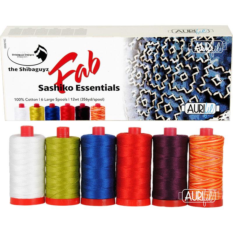 FAB Sashiko Essentials Aurifil 12wt Large Spools