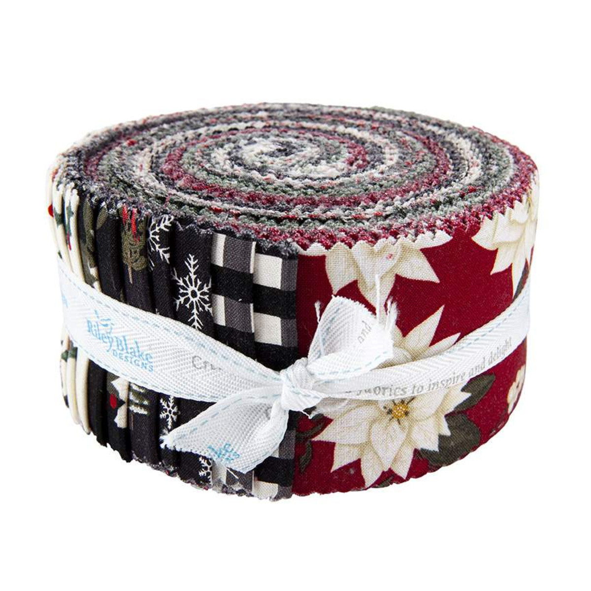 Riley Blake Jelly Roll - Farmhouse Christmas by Echo Park Paper Co
