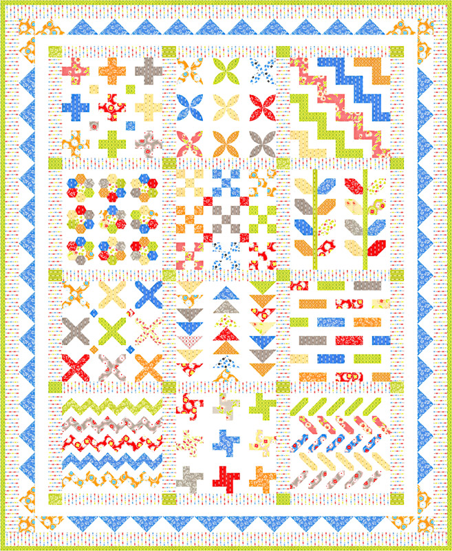 Moda Quilt Kit - Figs & Shirtings by Fig Tree