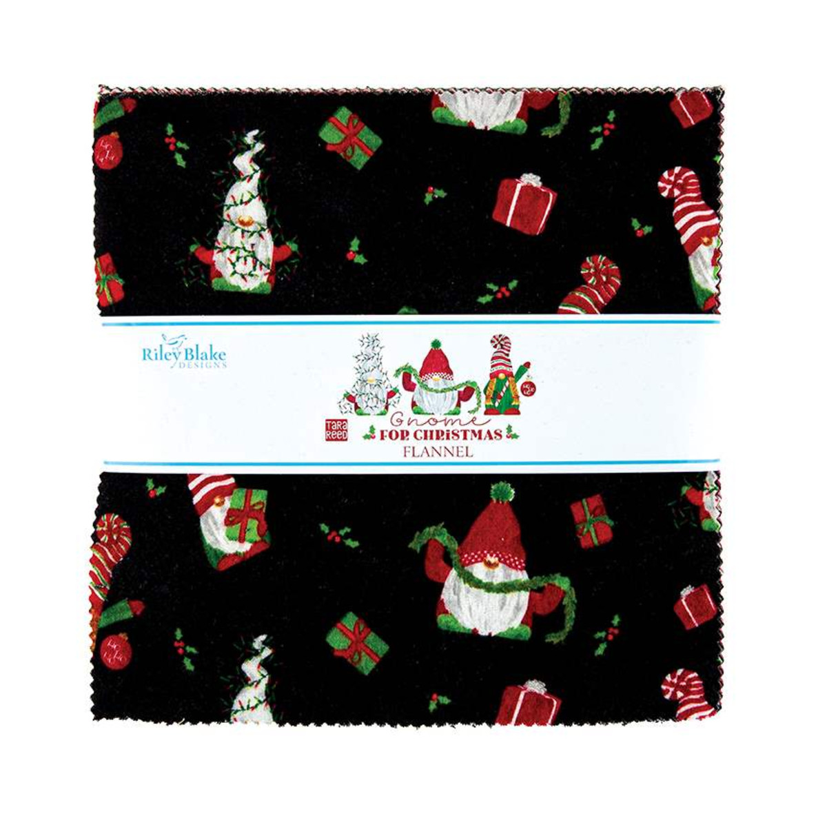 Riley Blake Layer Cake - Flannel Gnome for Christmas by Tara Reed