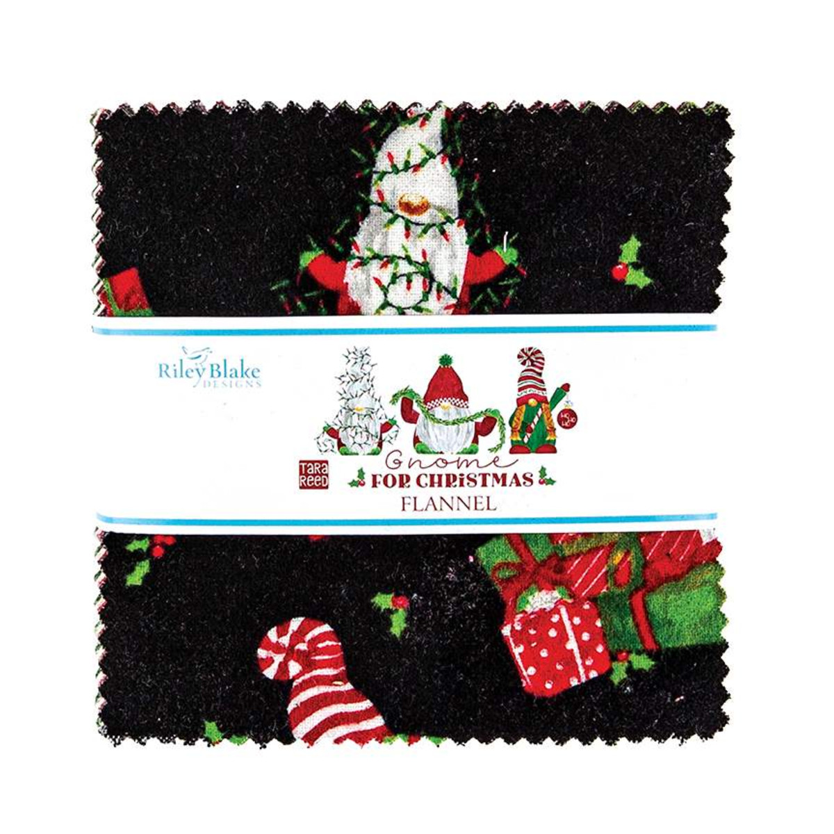 Riley Blake Charm Pack - Flannel Gnome for Christmas by Tara Reed