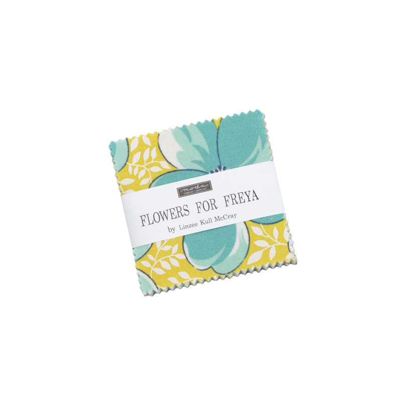 Moda Mini Charm - Flowers For Freya by Linzee Kull McCray