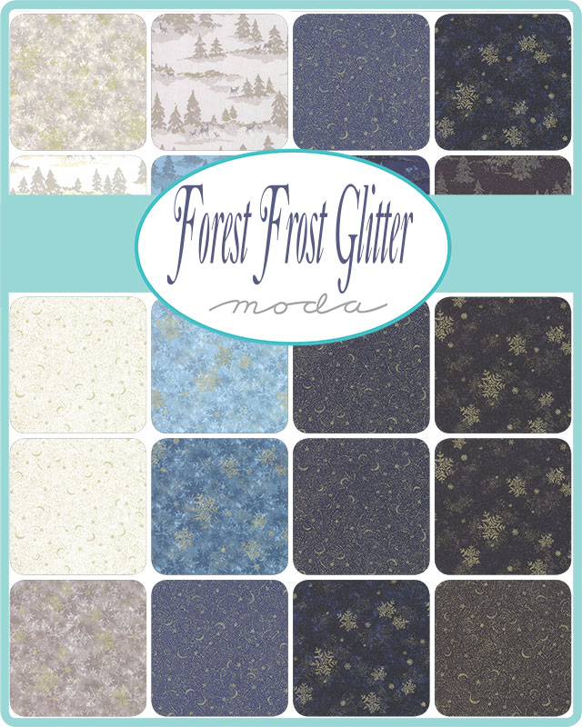 Moda Fat Quarter Bundle - Forest Frost Glitter by Moda