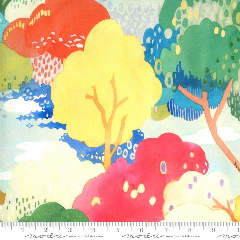 Moda Fanciful Forest Multi Leaf 33570 12 Yardage