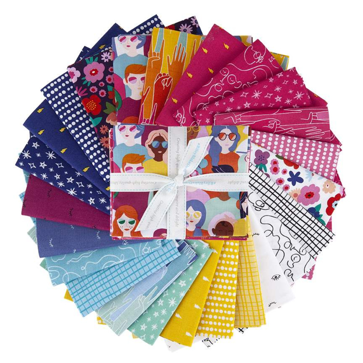 Riley Blake Fat Quarter Bundle - Girl Power by Amber Kemp-Gerstel