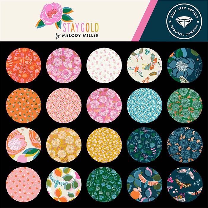 Moda Half Yard Bundle - Stay Gold by Ruby Star Society