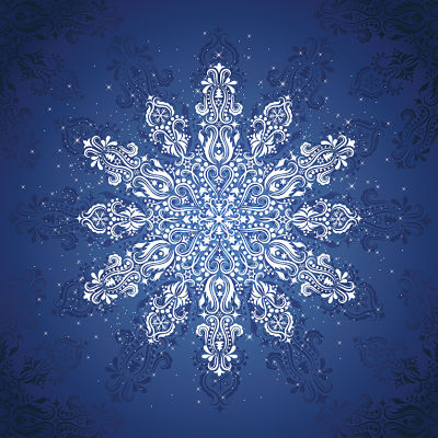 Moda Panel - Gradients Holiday Panel Blue Ice Snowflake